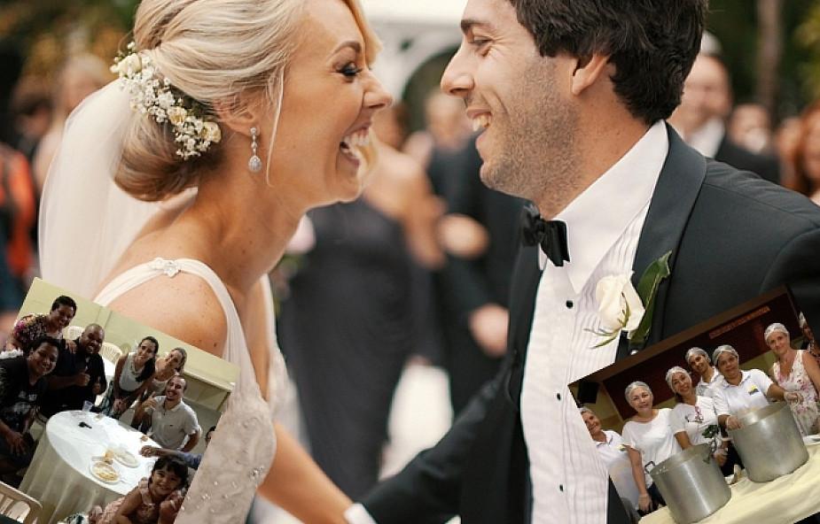 """Nowożeńcy zorganizowali wesele dla... bezdomnych. """"Postanowiliśmy nakarmić tych, którzy tego potrzebują"""""""
