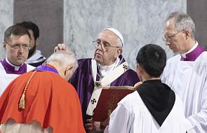 Papież w Środę Popielcową: bogactwo, władza, sukces znikają jak pył na wietrze