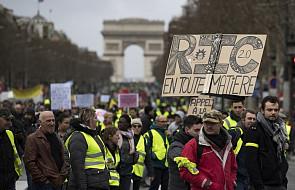 """Francja: na ulice wyszło według MSW 7 tys. """"żółtych kamizelek"""". Nic nie wskazuje na rychłe zakończenie demonstracji"""