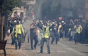 """Francja: starcia """"żółtych kamizelek"""" z policją w Tuluzie"""