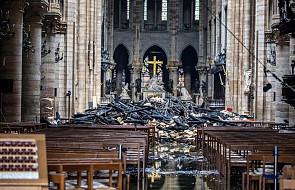 Wnętrze Notre Dame po pożarze. Obejrzyj zdjęcia i film