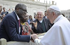 Papież spotkał się z lekarzem, który otrzymał nagrodę Nobla za ratowanie kobiet