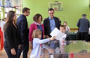 Warszawa: premier Mateusz Morawiecki oddał głos w wyborach do Parlamentu Europejskiego