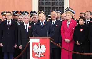 Uroczystości na Placu Zamkowym z udziałem pary prezydenckiej z okazji Święta Konstytucji 3 maja