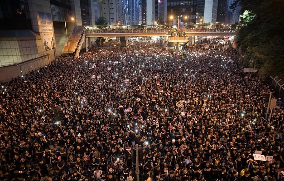 Hongkong: setki tysięcy osób protestują przeciw ekstradycji do Chin