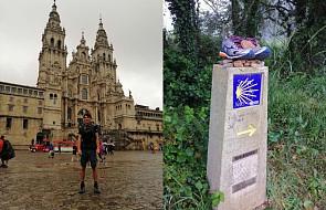 """Po ponad trzech miesiącach drogi Marcin dotarł do Santiago. """"Jestem szczęśliwy"""""""