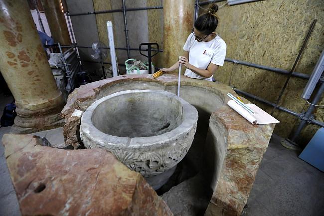 Naukowcy zaskoczeni nowym odkryciem w bazylice Narodzenia Pańskiego w Betlejem - zdjęcie w treści artykułu