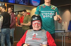 84-latek na wózku pobiegł z wnukiem w półmaratonie. Teraz przygotowują się do maratonu
