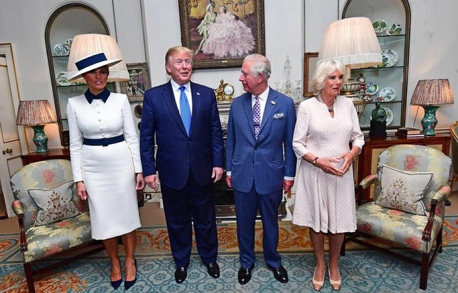 W.Brytania: Trump spotkał się z królową i następcą tronu