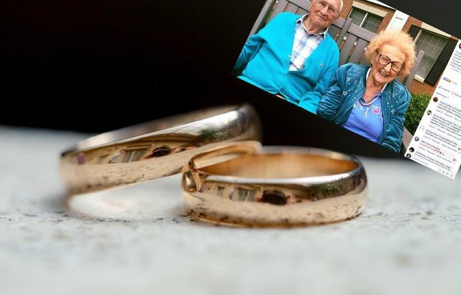On ma 100 lat, a ona prawie 103. Postanowili się pobrać