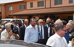 Włochy: Salvini odwiedził likwidowany największy w Europie ośrodek dla migrantów
