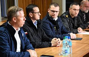 Premier Morawiecki bierze udział w posiedzeniu sztabu kryzysowego