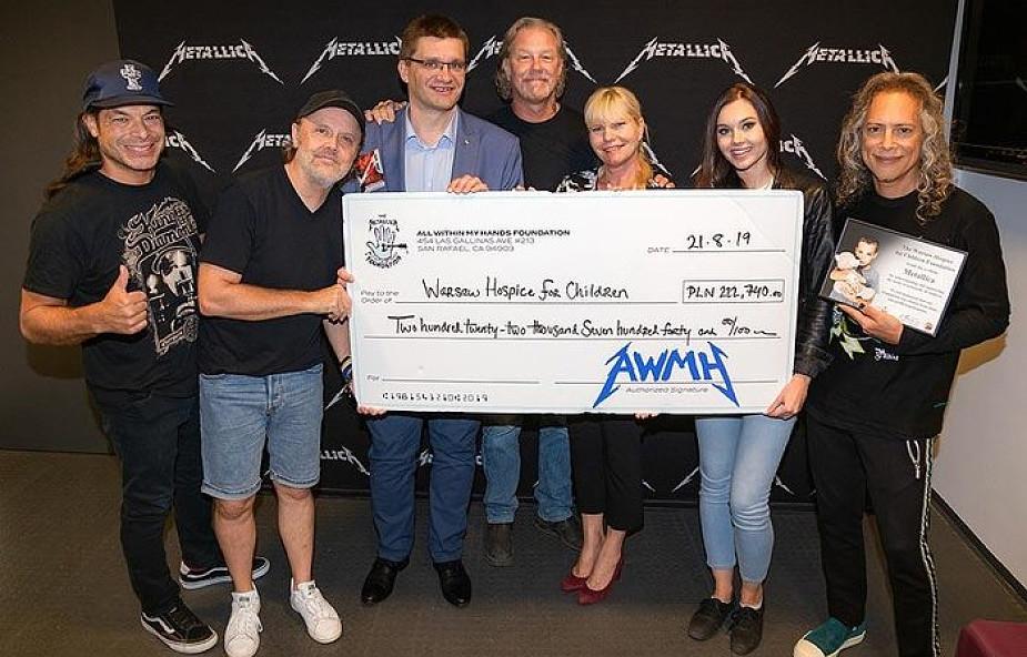 Ponad 200 tys. zł dla warszawskiego hospicjum dla dzieci od... zespołu Metallica!