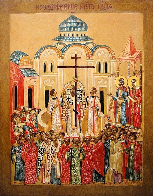 Stań pod krzyżem. Medytacja nad ikoną Podwyższenia Krzyża Świętego - zdjęcie w treści artykułu