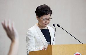 Szefowa władz Hongkongu ogłosiła wycofanie kontrowersyjnego projektu