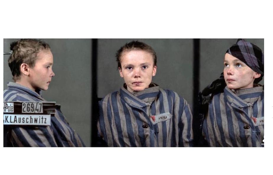 Czesia Kwoka. 14-letnia Polka, katoliczka. Numer obozowy 26947. Została zabita zastrzykiem fenolu