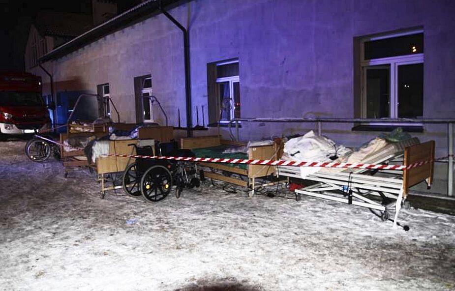 Cztery ofiary śmiertelne pożaru w hospicjum, 24 osoby w szpitalu