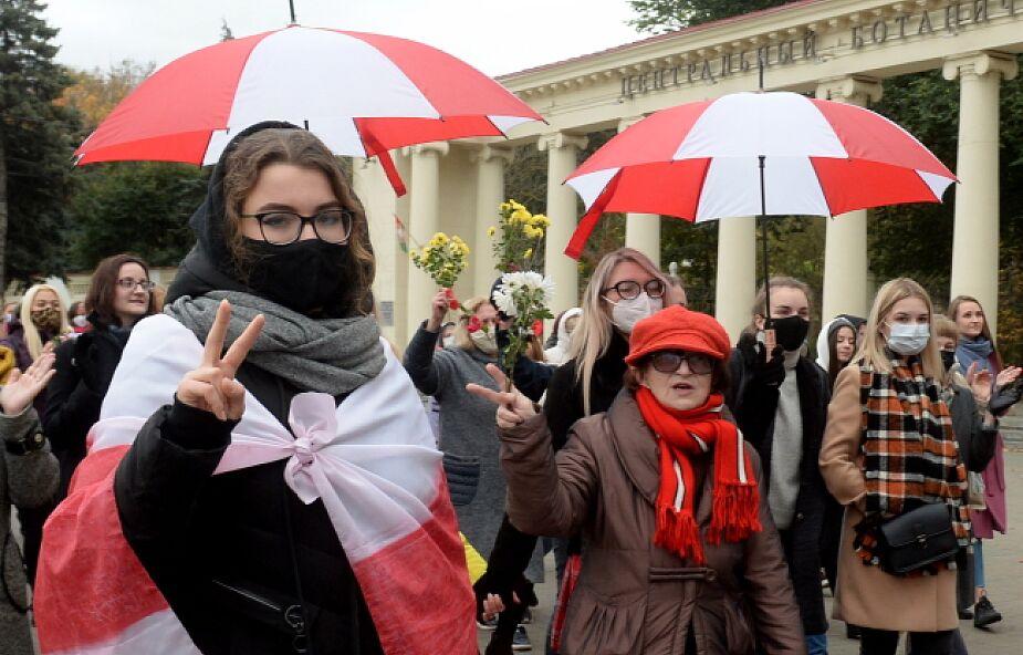 Białoruś/ Wiasna: już ponad 70 zatrzymanych w czasie demonstracji, w tym 73-letnia Nina Bahińska