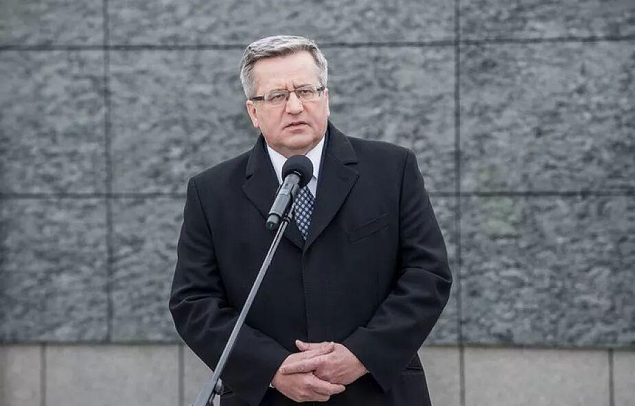 Były prezydent Bronisław Komorowski trafi do jednego ze stołecznych szpitali