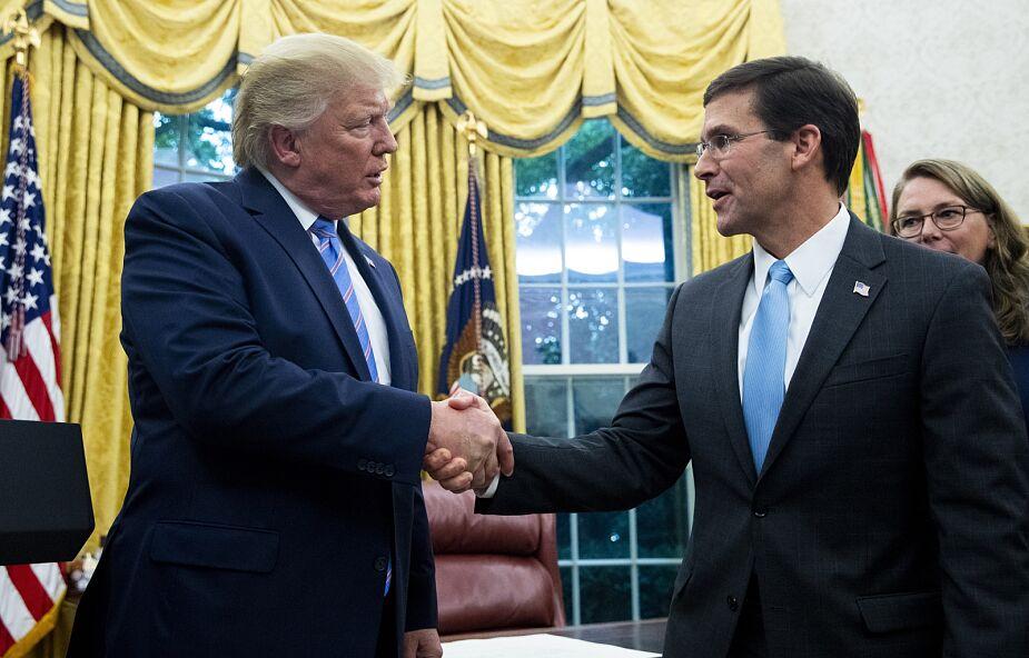 USA: prezydent Trump zdymisjonował szefa Pentagonu