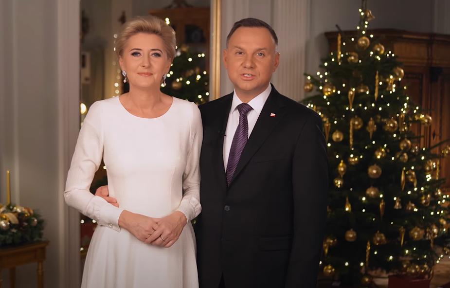 Para prezydencka złożyła życzenia z okazji Bożego Narodzenia