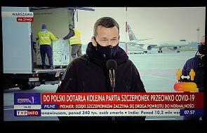 Morawiecki: dzisiaj przyjechało do Polski 300 tys. dawek szczepionki; trafią do ponad 250 szpitali