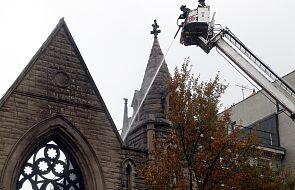 Pożar w zabytkowym kościele episkopalnym na Manhattanie w Nowym Jorku