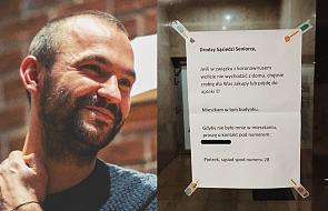 Piotr Żyłka:  dziś wywiesiłem takie ogłoszenie w budynku, w którym mieszkam