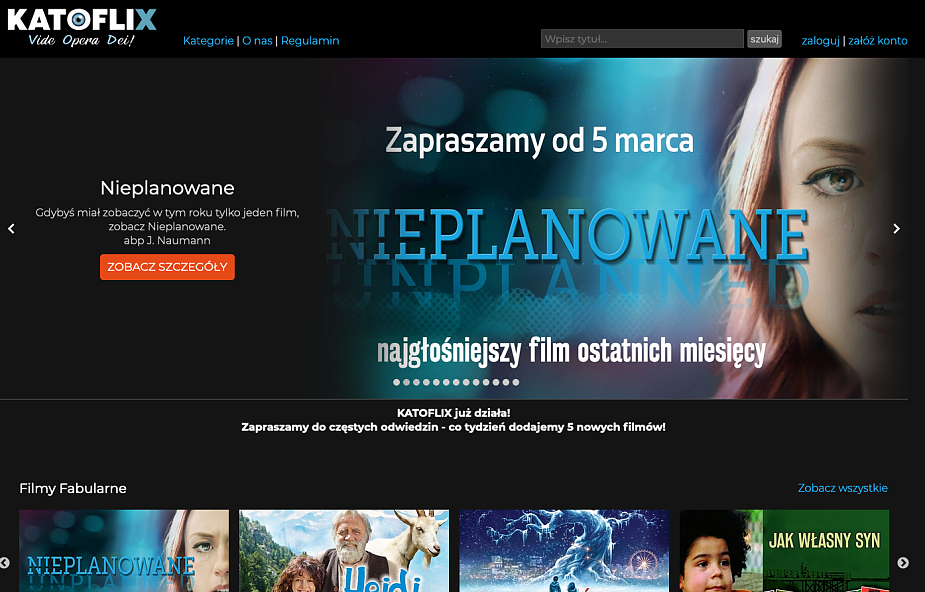 KATOFLIX - nowe chrześcijańskie kino internetowe