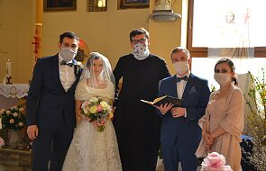 Epidemia nie zmieniła ich planów. Zobaczcie zdjęcia ze ślubu Weroniki i Krzysztofa
