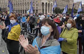 W Kijowie manifestowali przeciwnicy polityki Zełenskiego
