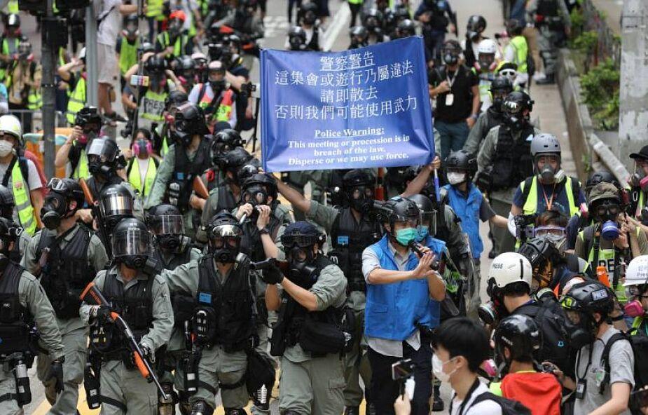 Hongkong: policja użyła gazu łzawiącego do rozpędzenia antyrządowych demonstrantów