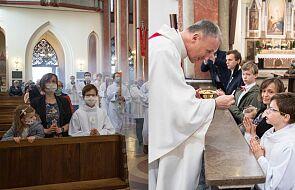 Michał przyjął indywidualną pierwszą Komunię Świętą. Zobacz wzruszające zdjęcia