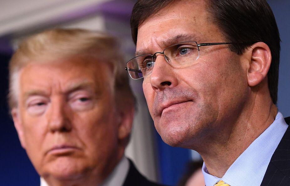 USA: Szef Pentagonu przeciwny użyciu wojska przeciw protestom