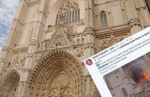 """Płonie zabytkowa katedra we Francji, trwa akcja gaśnicza. """"To poważny pożar"""" [WIDEO]"""