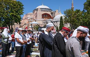 Pierwsze od niemal 90 lat modlitwy w meczecie Hagia Sophia