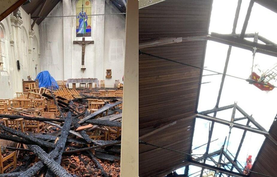 """Poważny pożar w polskim kościele we Francji. """"Wygląda jak katedra Notre-Dame po spaleniu"""""""