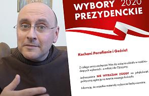 Proboszcz z Warszawy znów przygotował specjalny plakat na wybory. Robi furorę w internecie