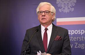 Szef MSZ: Polska za wprowadzeniem sankcji wobec osób, które fałszowały wybory na Białorusi i dopuszczały się przemocy
