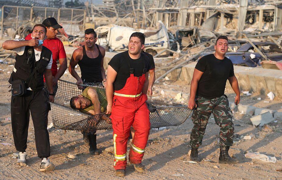 Czerwony Krzyż: w wybuchu w Bejrucie zginęło co najmniej sto osób
