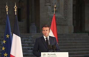 Macron w Bejrucie: pieniądze dla Libanu są, czekają na przeprowadzenie reform