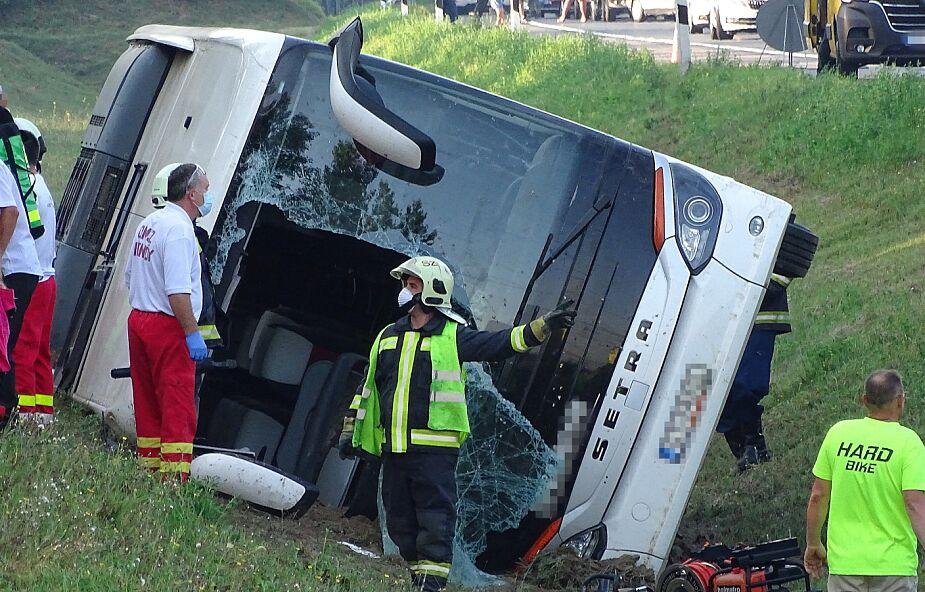 MSZ: autokar z Polakami, który uległ wypadkowi na Węgrzech, wracał z Bułgarii do kraju