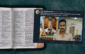W czasie zamknięcia z powodu pandemii przepisał ręcznie cała Biblię