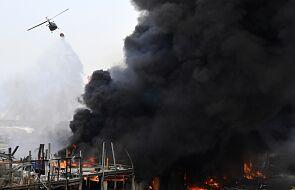 Liban: częściowo ugaszono pożar w porcie w Bejrucie