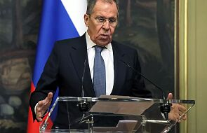 """Ławrow oskarża NATO i UE o """"niszczące"""" oświadczenia w sprawie kryzysu na Białorusi"""