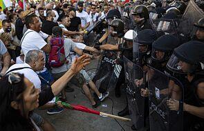 Protesty w Sofii: ponad 40 zatrzymanych, 16 hospitalizowanych po użyciu gazu