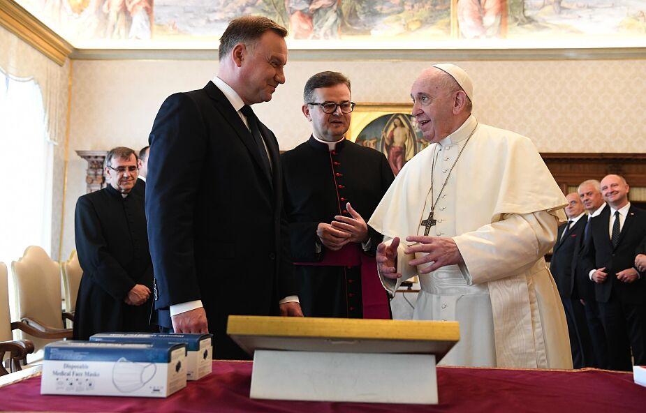 Papież Franciszek przyjął na audiencji prezydenta Dudę