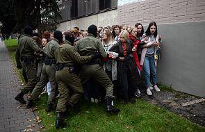 Białoruś: dziesiątki osób zatrzymanych na mińskim Prospekcie Maszerowa