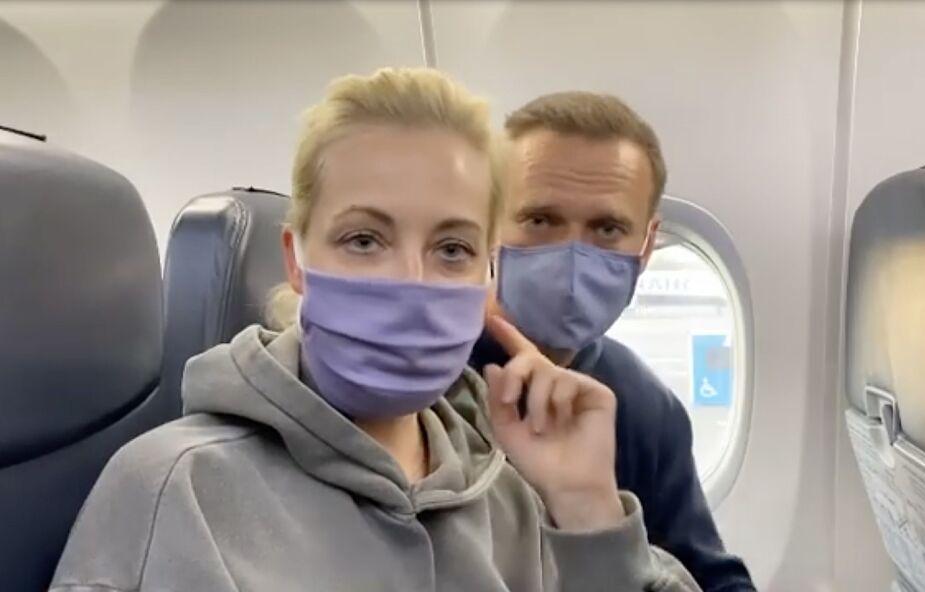Rosja: Nawalny zatrzymany na lotnisku po powrocie z Niemiec