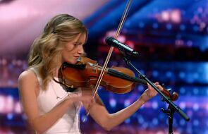 Zaśpiewała i zagrała na skrzypcach. Gdy skończyła, z jej oczu popłynęły łzy [WIDEO]